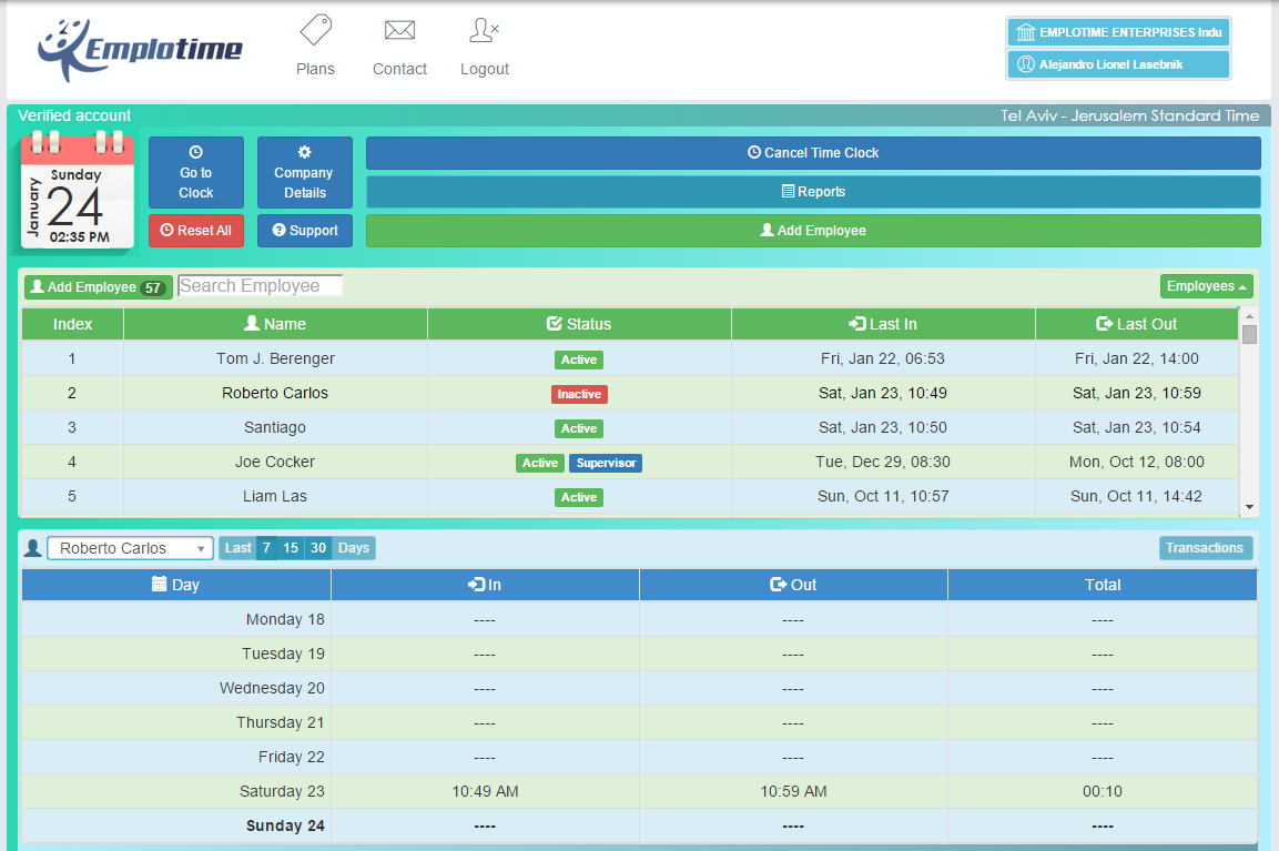 Your time and attendance administrator portal